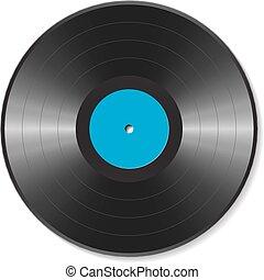 disque, vinyle, vide