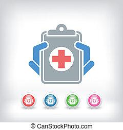 disques médicaux, icône