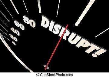 Disrupt Speedometer Change Innovate Evolve 3d Illustration