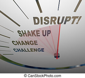 Disrupt Speedometer New Idea Paradigm Shift - A speedometer...