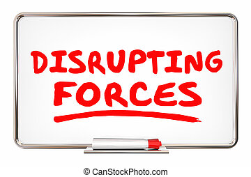 Disrupting Forces Change Competition Marker Writing Words 3d Illustration