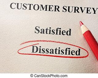 Dissatisfied customer survey