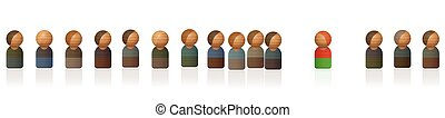 Dissident Person Stepped Out Of Line Toy Figures - Dissident...