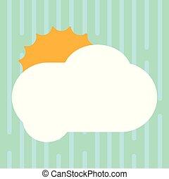 dissimulation, concept, annonces, business, espace, couleur, soleil, résumé, moderne, vide, derrière, vecteur, conception, vide, fond, affiche, copie, nuage pelucheux, briller