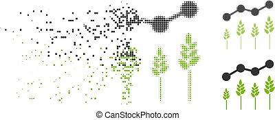 Dissipated Dot Halftone Crop Analytics Icon