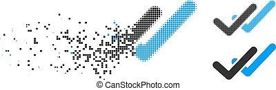 Dissipated Pixel Halftone Validation Icon
