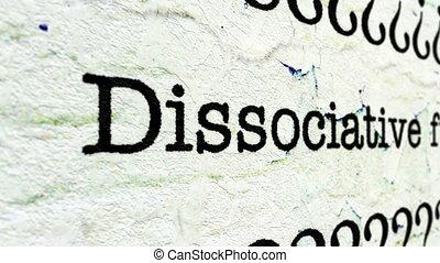 Dissociative fugue disorder