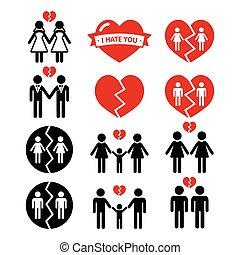 dissolution, couple, ou, gay, lesbienne