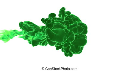 Dissolve green dye or ink in water or smoke in air for...