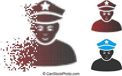 Dissolved Pixel Halftone Army General Icon