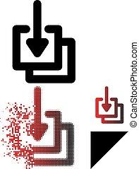 Dissolved Pixel Halftone Downloads Icon