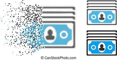 Dissolved Pixel Halftone Icon
