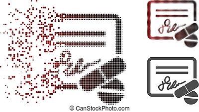 Dissolving Dot Halftone Prescription Icon