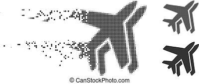 Dissolving Pixel Halftone Airlines Icon