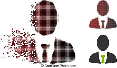 Dissolving Pixel Halftone Boss Icon