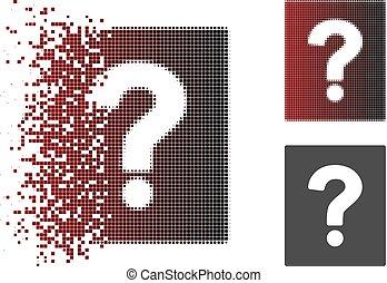 Dissolving Pixel Halftone Help Icon