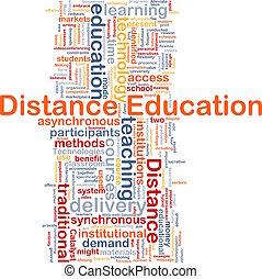 distância, educação, fundo, conceito