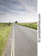 distância, estrada aberta, car