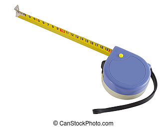 distância, measurer, fundo branco