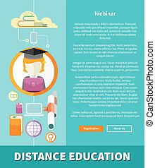 Distance Education and Learning Concept