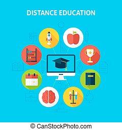 Distance Education Infographic Concept