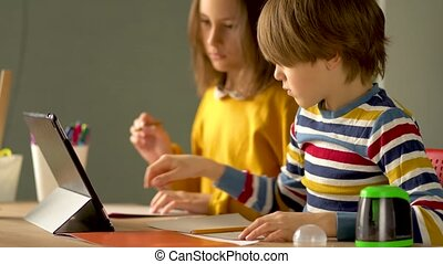 Distance education of children at home during the quarantine...
