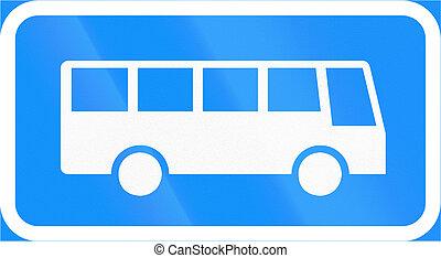 distance, finlande, arrêt, long, autobus