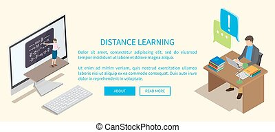 Distance Learning Template with Working People