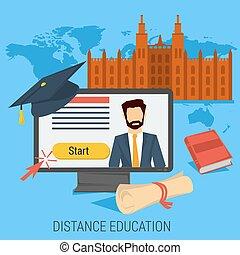 DISTANCE ONLINE EDUCATION CONCEPT