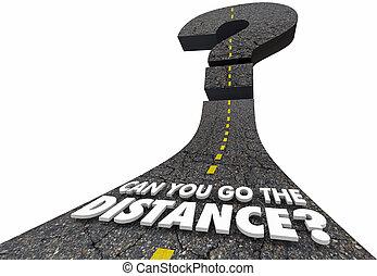distance, question, illustration, marque, boîte, aller, vous, route, 3d