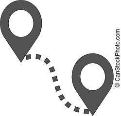 Distance, road, adventure icon vector image. Can also be ...