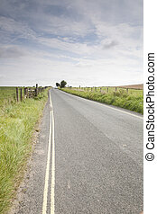 distance, route ouverte, voiture