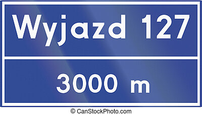 Distance To Motorway Junction In Poland