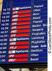 distance transport timetables - switzerland, zurich, train...