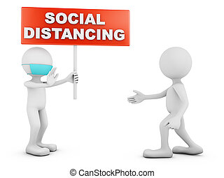 distancing, caractères, social