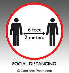 distancing, concepto, social