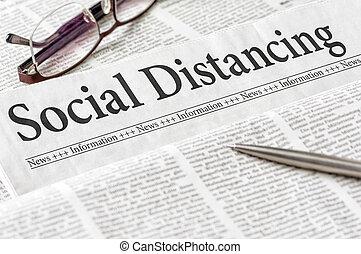 distancing, gros titre journal, social