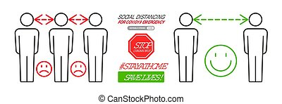 distancing, infographics, social