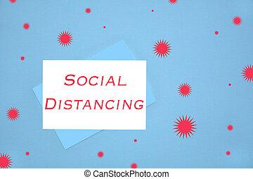 distancing, social, notecard