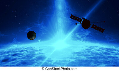 Distant exoplanet exploration by space probe