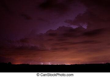Distant Thunderstorm in Illinois