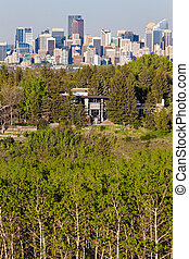 Distant view of Calgary