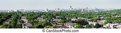 Distant view of downtown Milwuakee