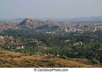 Distant view of Hampi, India