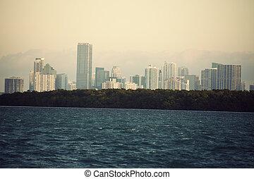 Distant view of Miami