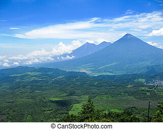 Distant Volcano - A volcano in the distance in Guatemala.