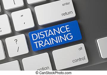 distanza, addestramento, 3d., button.