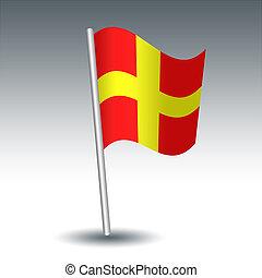 distanza, colorare, metallo, segnale, -, bandiera,...