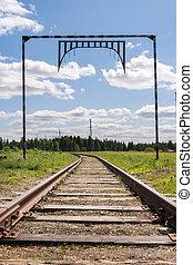 distanza, verso, do, piste, andare, foresta, ferrovia