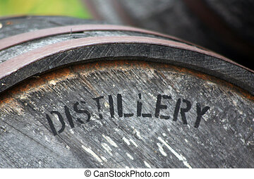 Distillery aging barrel - The used oak barrel impacts the...